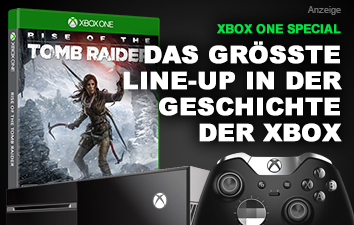 Xbox One Konsole, Controller und Rise of the Tomb Raider