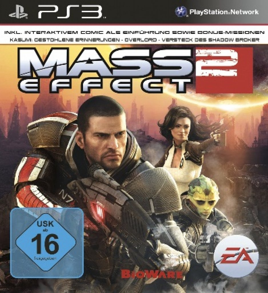 [10/12/10] Der PAL-Packshot zu Mass Effect 2 für PlayStation 3.