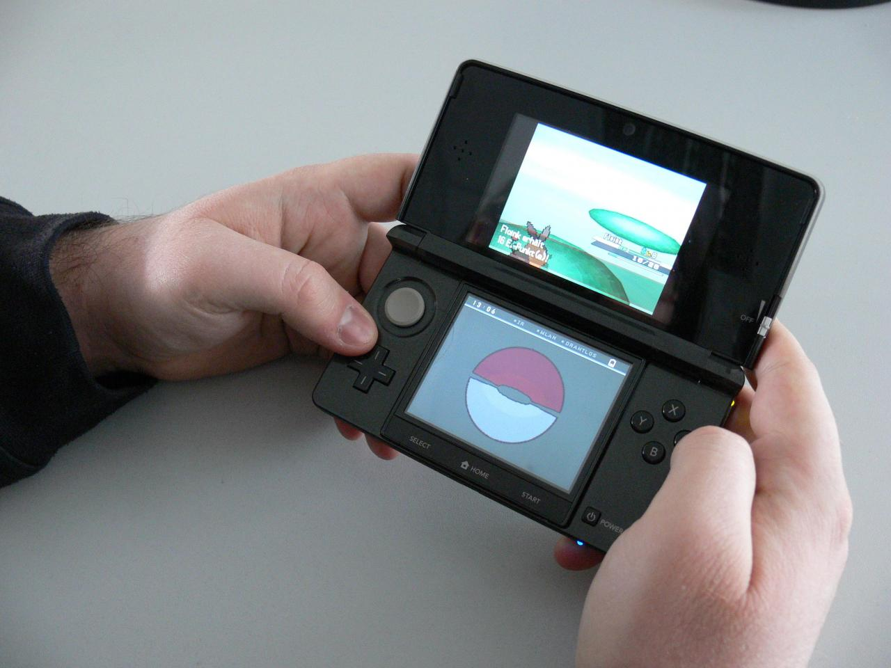 nintendo 3ds wir spielen pok mon wei auf dem neuen 3d handheld. Black Bedroom Furniture Sets. Home Design Ideas