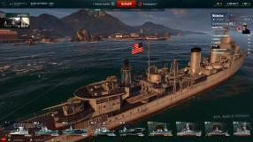 World of Warships: US-Zerstörer im Nahkampf