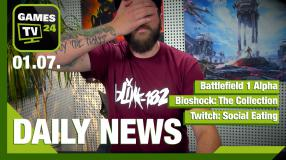 Twitch: Social Eating, Battlefield 1, Bioshock: The Collection - Video-News vom 1. Juli