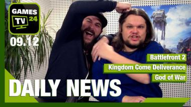 Battlefront 2, Kingdom Come Deliverance, God of War: Video-News am 9. Dezember