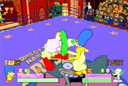 Simpsons Wrestling - Cheats