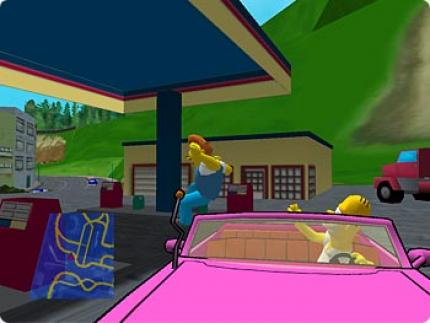 Simpsons Road Rage - eine Crazy-Taxi-Kopie?