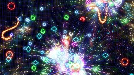 Geometry Wars: Waves in Project Gotham Racing 4 enthalten