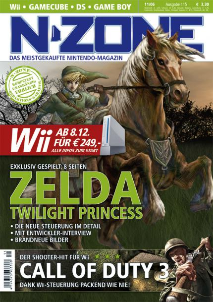 N-ZONE 11/06: Mit Zelda: Twilight Princess, Call of Duty 3, Super Mario Galaxy und allen Infos zum Wii-Start!