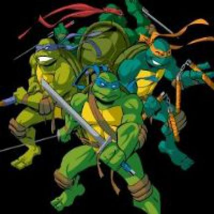 Turtles in alter Retro-Manier