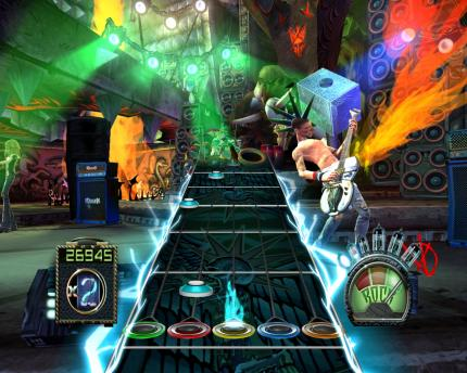 Szene aus Guitar Hero 3: Legends of Rock.