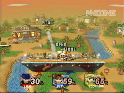 Bonus Video online: Super Smash Bros. Brawl: N-ZONE vs. Leser