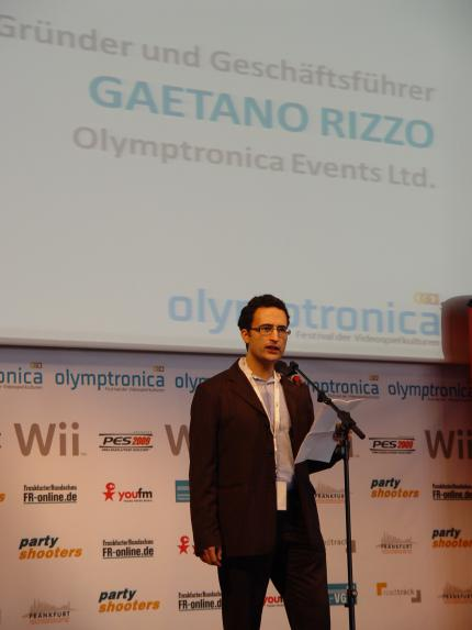 Die Rede des Olymptronica-Gründers Gaetano Rizzo