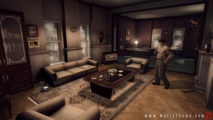 Mafia 2-Screenshot zeigt Joe's Appartement in den 1940ern.