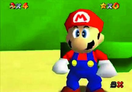 Super Mario 64 - coole 3D-Optik, mit Analog-Controller gesteuert.