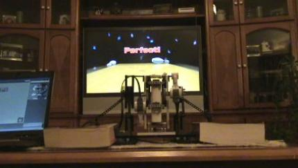 WiigoBot: Der Roboter spielt ein Perfect Game in Wii Sports Bowling. (3)