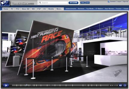 E3 2010: Need for Speed 14: Hot Pursuit Race-Messestand.