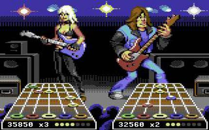 Guitar Hero im Retro-Design.
