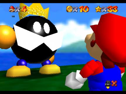Screenshot aus Super Mario 64.
