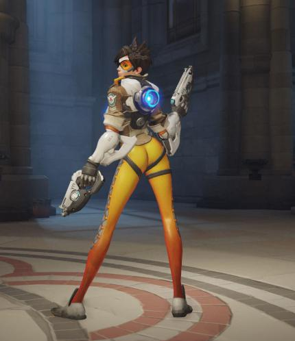 Overwatch: Tracers Schulterblick-Pose