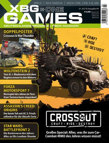XBG Games 01-03/18 mit Titelstory zu Crossout