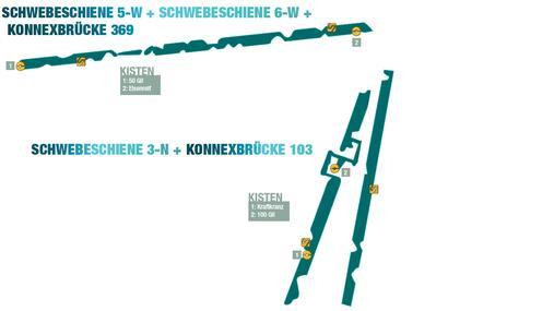 Final Fantasy 13-Lösung - Kapitel 1 - Brückenland: Die verbotene Zone: Schwebeschiene 5-W + Schwebeschiene 6-W + Konnexbrücke 369 und Schwebeschiene 3-N + Konnexbrücke 103