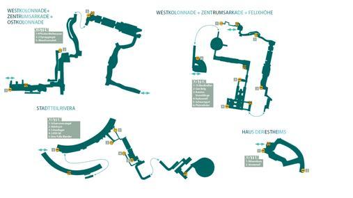 Kapitel 7: Palumpolum - Westkolonnade + Zentrumsarkade + Ostkolonnade + Stadtteil Rivera + Westkolonnade + Zentrumsarkade + Felixhöhe + Haus der Estheims