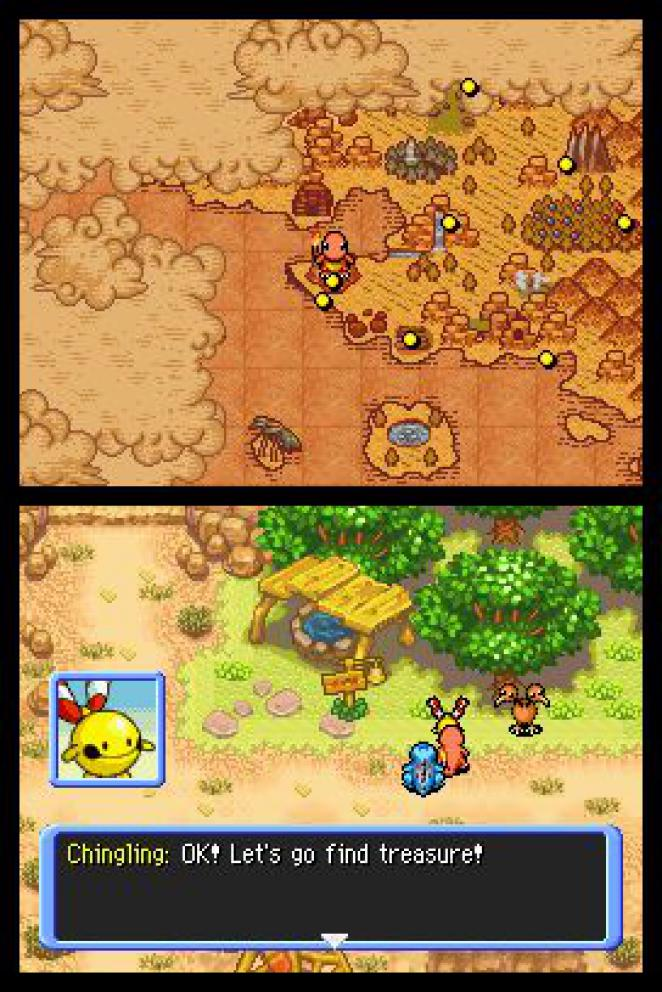 Screenshot aus Pokémon Mystery Dungeon: Erkundungsteam Zeit