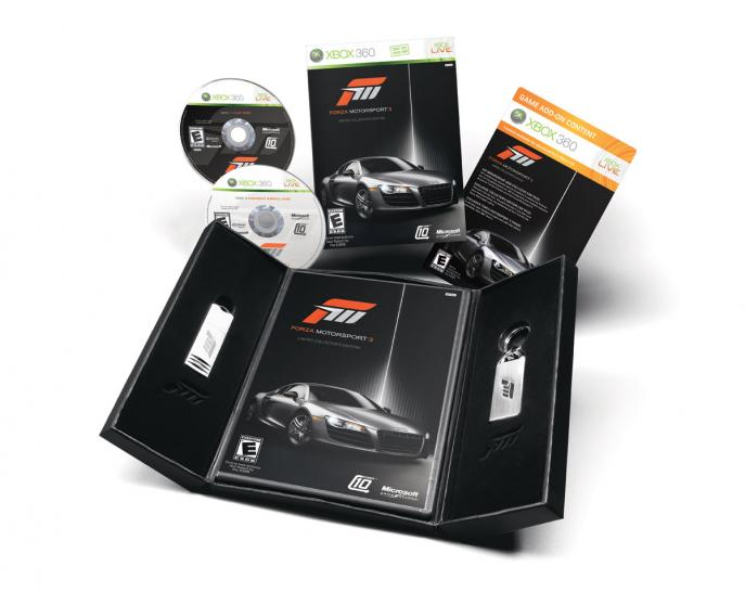 Die Collector's Edition von Forza Motorsport 3