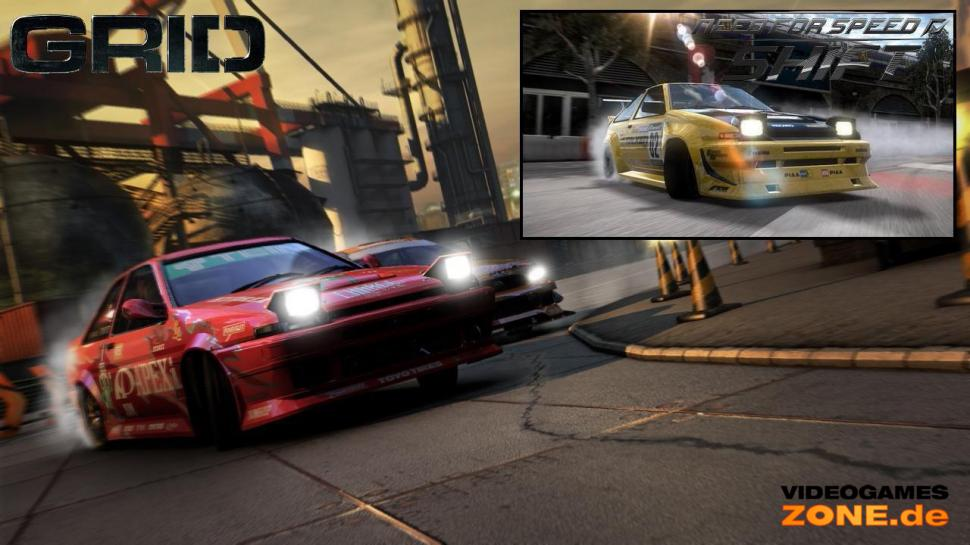 Grafikvergleich mit Need for Speed: Shift und Race Driver: GRID.