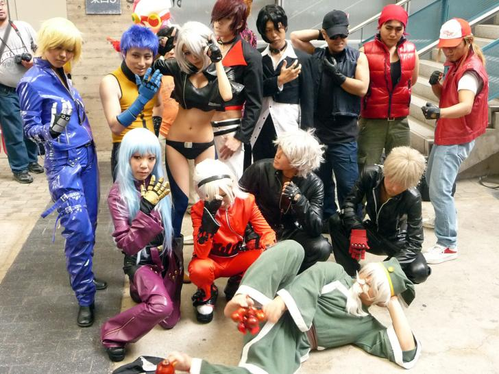 TGS 2009: cosplay The King of Fighters-Gruppe (1)