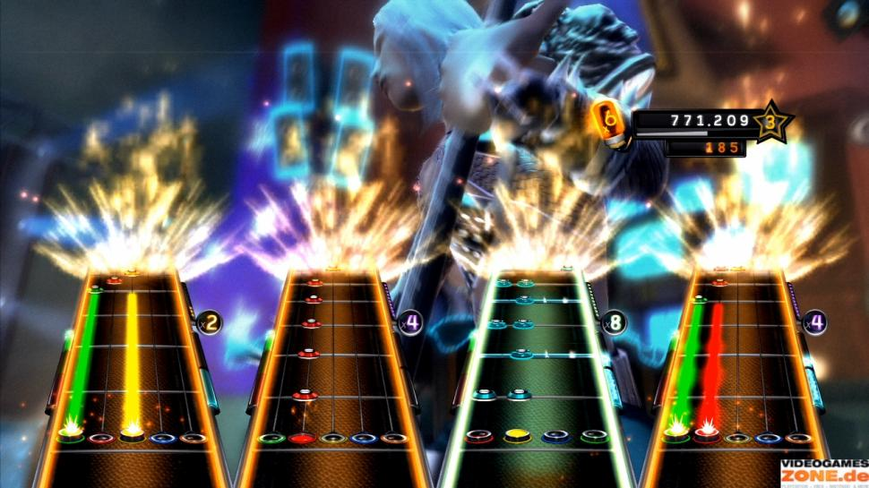 Screenshots aus Guitar Hero 5. (1)