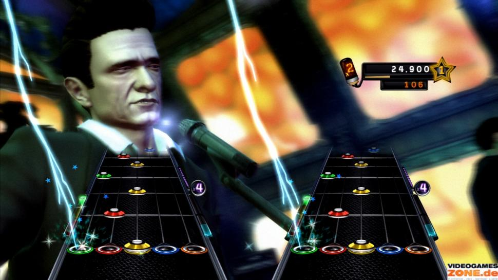 Screenshots aus Guitar Hero. (1)