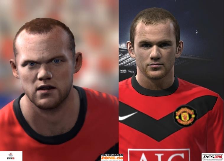 Manchester United PES 2010 vs. FIFA 10 Rooney