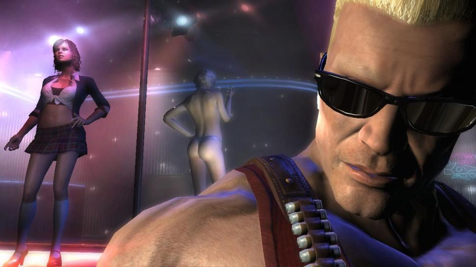 Lebt der Duke? Screenshot aus Duke Nukem Forever.