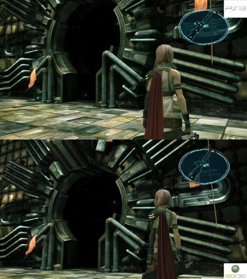 Final fantasy 13 grafikvergleich zwischen ps3 und xbox 360 version