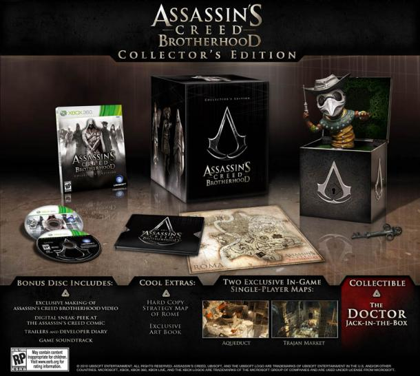 Die Collector's Editionen zu Assassin's Creed: Brotherhood.