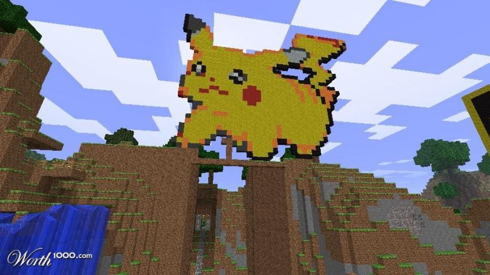 Pokémon In Minecraft Nachgebaut Pikachu Und Co Im Pc Spiel Erstellt
