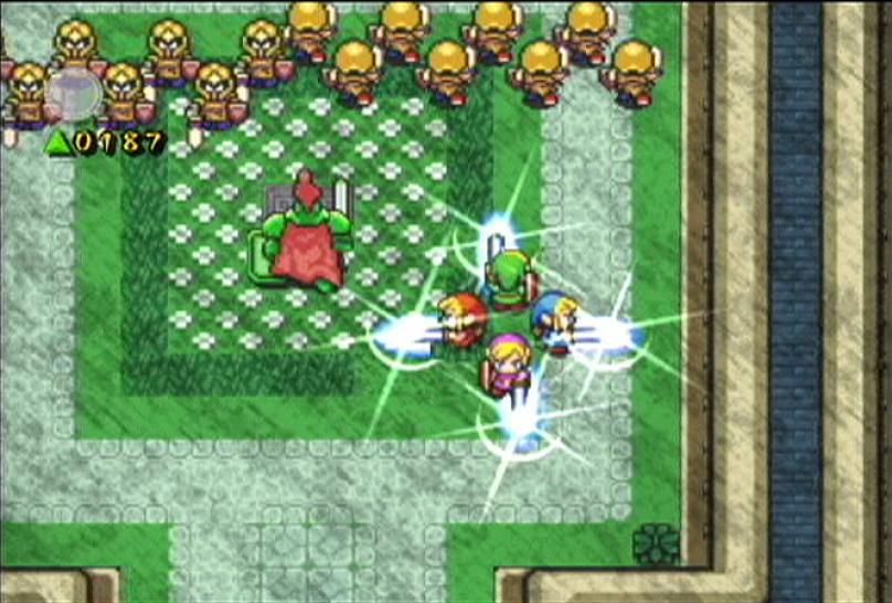 Das Bild stammt aus dem GameCube-Spiel The Legend of Zelda: Four Swords Adventures.