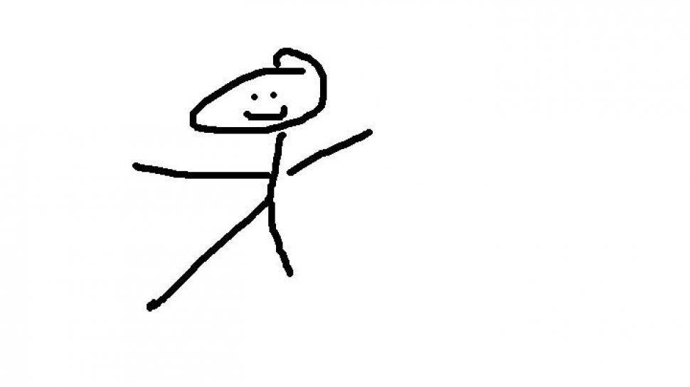 Draw a stickman trotzt ersen gefahren im kreativen strichm 228 nnchen