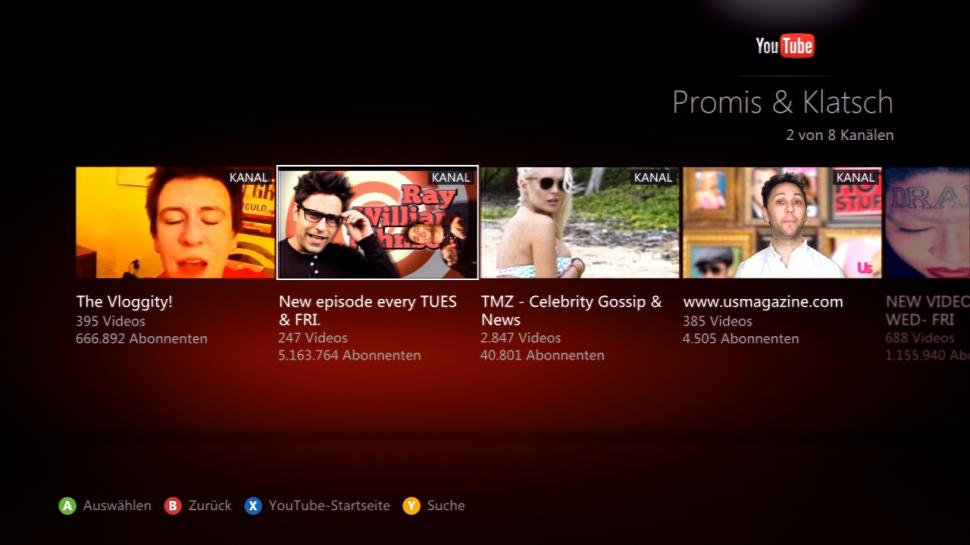 Xbox 360 - Screenshots vom neuen Xbox 360-Dashboard (1)