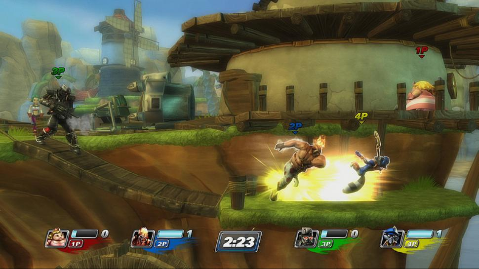 In PlayStation All-Stars: Battle Royale wird ordentlich geprügelt. (1)