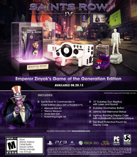 Saints Row 4 erscheint auch als Emperor Zinnyak's Game of the Generation Edition. (1)
