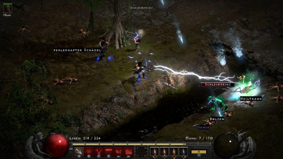 Diablo 2: Resurrected: Switch version in the video graphics comparison