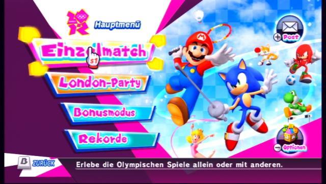 Mario Und Sonic Bei Den Olympischen Spielen London 2012 Test Für