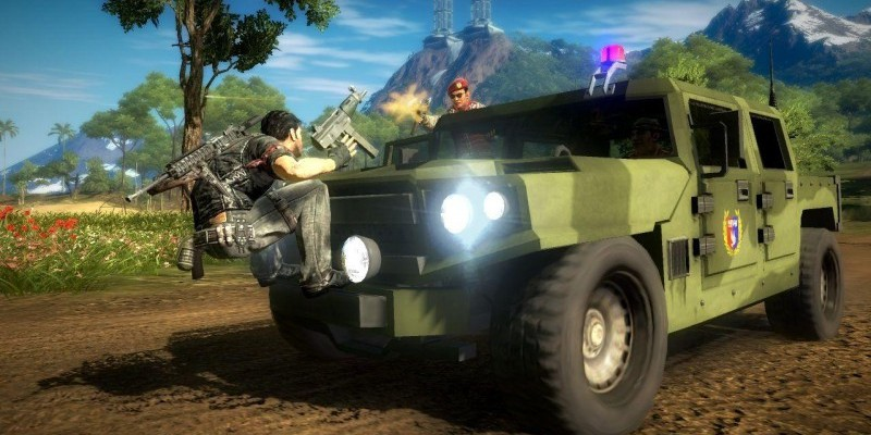 YouTube-Nutzer TannerProductions zeigt in einem neuen Video eine witzige Top Gear-Parodie in Just Cause 2.