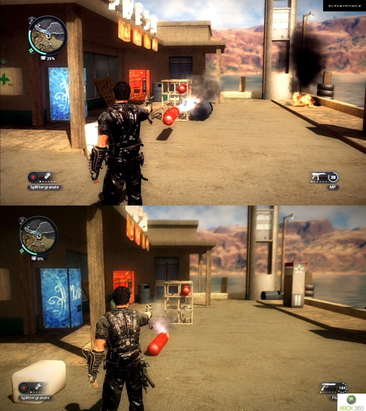 Just Cause 2 Xbox 360 Vs Ps3 Screenshot Comparison N4g