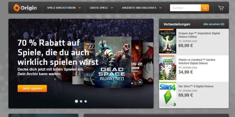 Electronic Arts benennt Origin-Accounts in EA-Konten um.