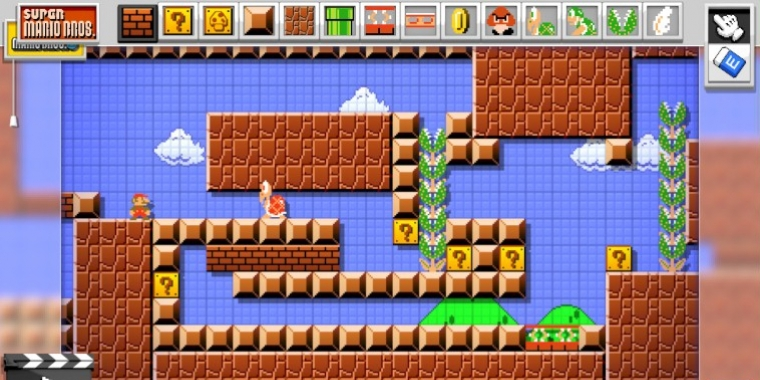 Super Mario Maker - Fan baut Level im Metroid-Stil - Am Ende der Meldung im Video.