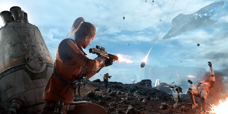 "Der Star Wars: Battlefront-Modus ""Abwurfzone"" erinnert an ""King of the Hill""."