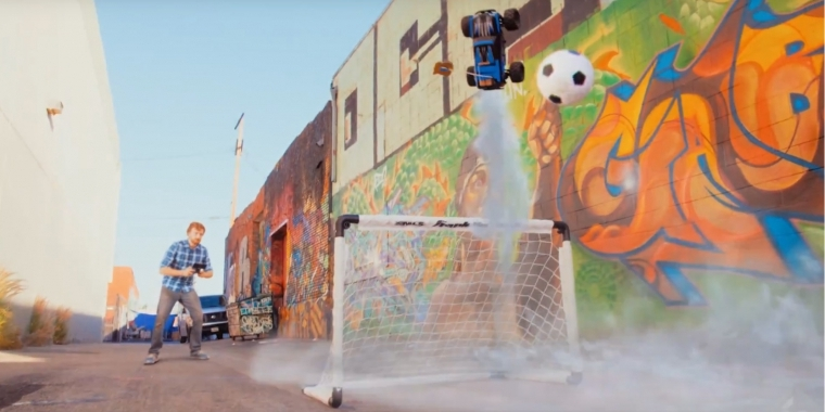 Das Bild stammt aus dem Making of-Video zu Real Rocket League.