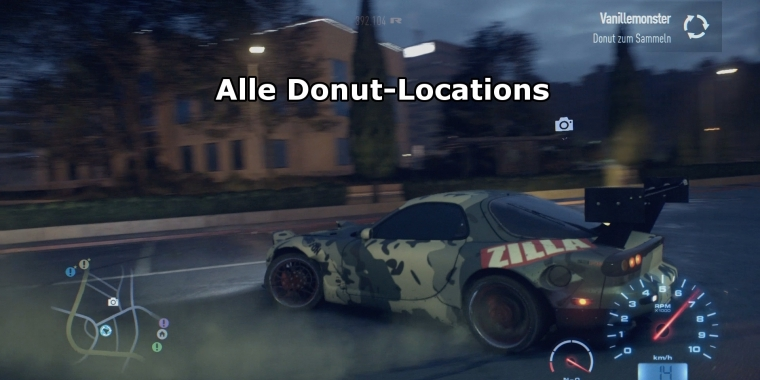 Need for Speed Tipps: Alle Donuts im Video, 30 Secrets-Locations