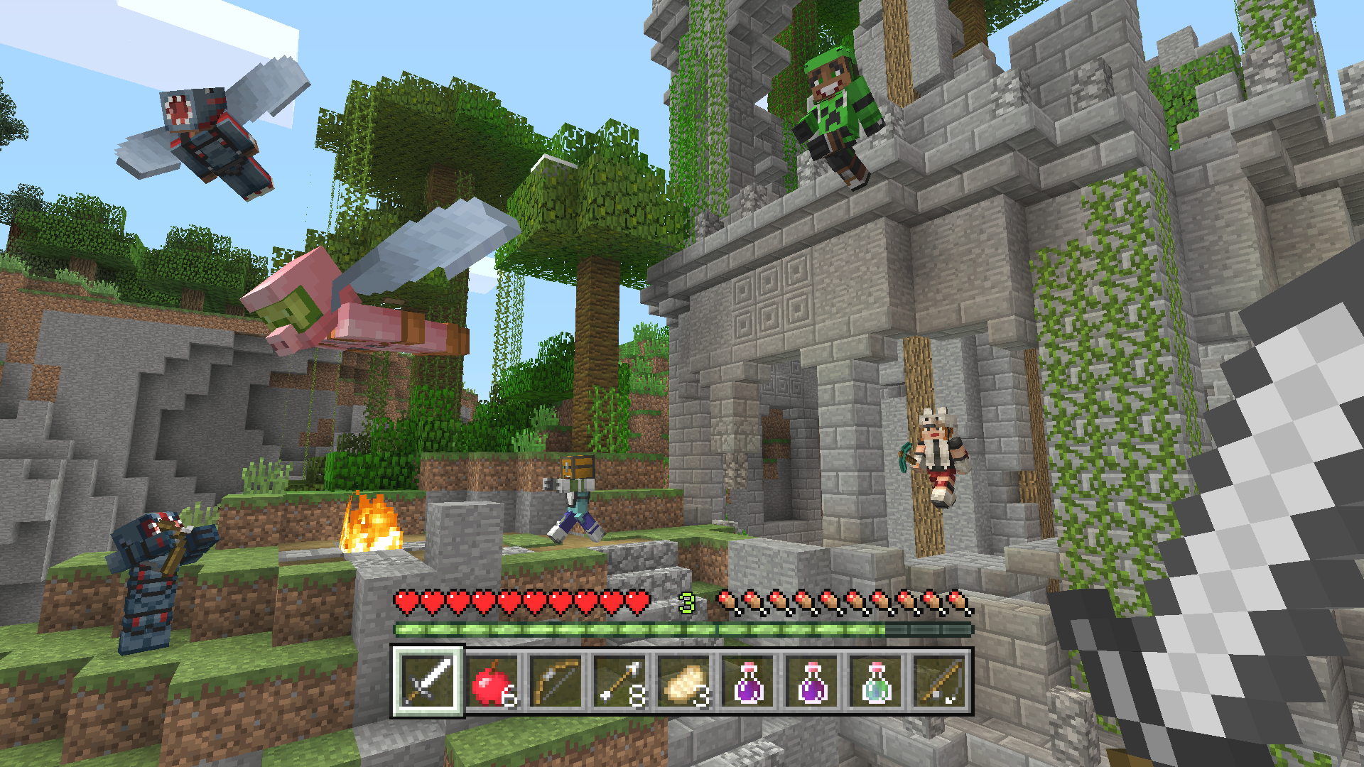 Minecraft: Player builds World 1-1 from Super Mario Bros.